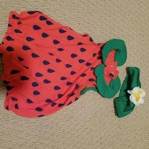 Watermelon romper and headband